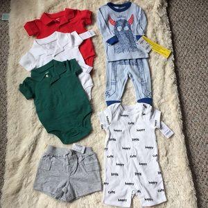 Carter's OshKosh 6m polo pajama romper lot